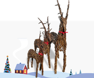 Wicker Xmas Reindeer for sale