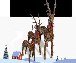 Wicker Xmas Reindeer for sale