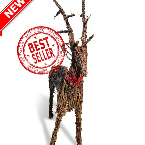 Large Xmas Wicker Reindeer - 64-inch-163cms-£99 (2)