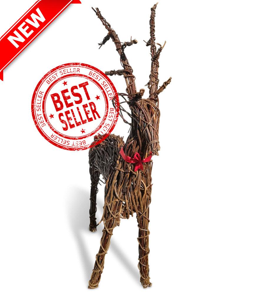 Large Xmas Wicker Reindeer - 64-inch-163cms-£99 (2)