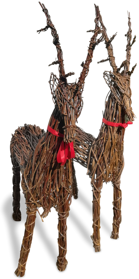 Buy Xmas, Christmas Wicker Reindeer
