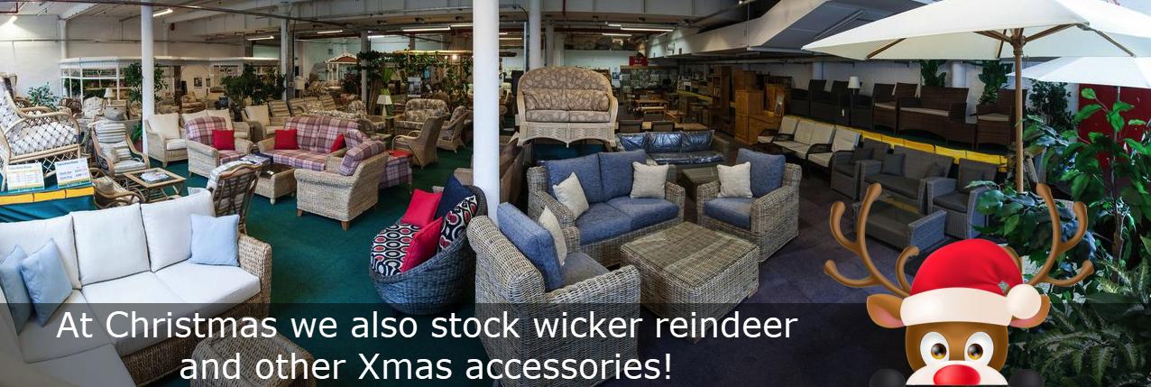 xmas wicker reindeers in stock