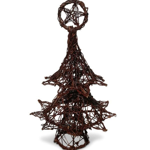 Wicker Christmas Tree
