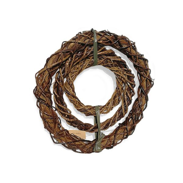 Wicker Xmas Wreathes - set of 3